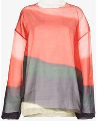 Dries Van Noten Hagland Printed Sweatshirt - Red
