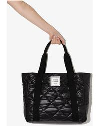 Opening Ceremony Box Logo Quilted Tote Bag - Black