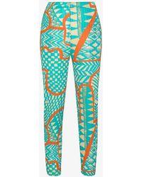 Pleats Please Issey Miyake Atlas Slim Leg Plissé Trousers - Blue