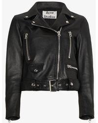 Acne Studios Merlyn Biker Jacket - Black