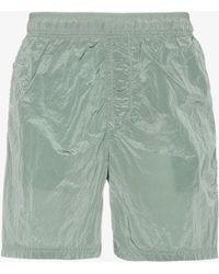 Stone Island - Green Metal Garment Dyed Swim Shorts - Lyst