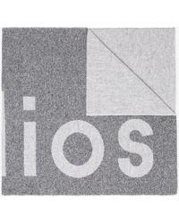 Acne Studios - Grey Toronto Logo Wool Scarf - Lyst
