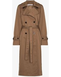 Acne Studios Odande Double-breasted Trench Coat - Brown