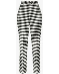ba0b3ecad19f Off-White c o Virgil Abloh Gingham Jogging Pants in Black - Lyst