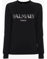 Balmain | Longsleeved Logo Sweatshirt | Lyst