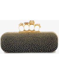 Alexander McQueen - Studded Leather Knuckle Box Clutch - Lyst