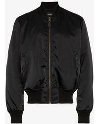 Balenciaga - Political Long Sleeve Bomber Jacket - Lyst