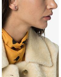 Andrea Fohrman 18k Yellow Gold Sapphire Rainbow Earring - Metallic