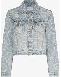 CASABLANCA Monogram Denim Jacket - Blue