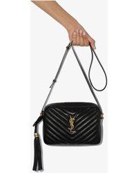 Saint Laurent Black Monogram Lou Leather Cross Body Bag
