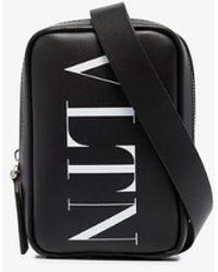 Valentino Black Valentino Garavani Vltn Logo Cross Body Bag