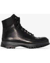 2e838cbfc1e Prada Brixen Rain Boots in Black for Men - Lyst
