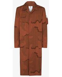 Marine Serre Regenerated Military Coat - Brown
