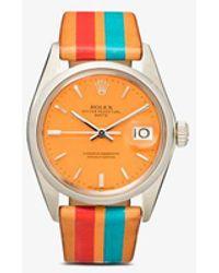 La Californienne Vintage Reworked Rolex Oyster Perpetual Date Watch - Orange