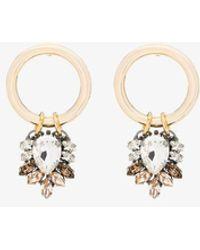 Anton Heunis - Plated Swarovski Crystal Hoop Earrings - Lyst