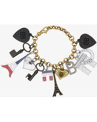Balenciaga - Multicoloured Souvenir Charm Bracelet - Lyst