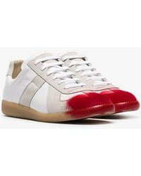 Maison Margiela - White And Red Replica Painted Toes Trainers - Lyst