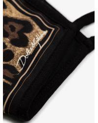 Dolce & Gabbana Leopard Print Face Mask - Brown