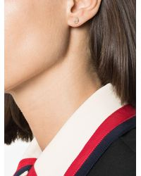 Lizzie Mandler 18k Yellow Gold Opal Diamond Single Earring - White