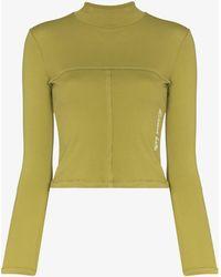 Eckhaus Latta Lapped Baby Sweatshirt - Green