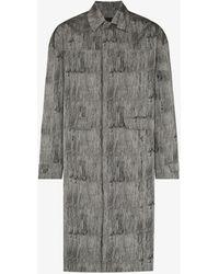 A_COLD_WALL* Static Single-breasted Mac Coat - Grey
