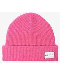 Ganni - Knitted Beanie - Lyst