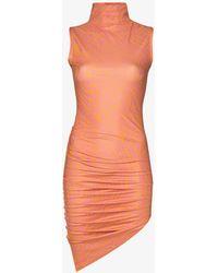 Maisie Wilen Graphic Print Mini Dress - Orange