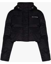 Daily Paper Epuff Cropped Puffer Jacket - Black