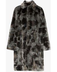 Balenciaga - Faux Fur Opera Coat - Lyst