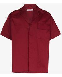 Bianca Saunders X Browns Focus Short Sleeve Cotton Shirt - Red
