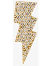 Anton Heunis | Gold And Diamond Lightning Bolt Earring | Lyst