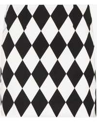 Kenneth Ize X Karl Lagerfeld Diamond Print Mini Skirt - White