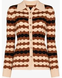 Dodo Bar Or Marvin Wave Knit Cardigan - Brown