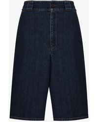 Prada Logo Bermuda Shorts - Blue