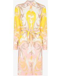 Emilio Pucci - Tropicana Print Shirt Dress - Lyst