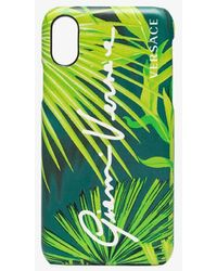 Versace Leaf-print Iphone X Case - Green