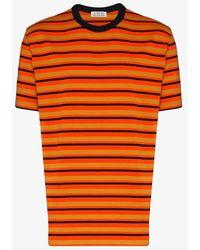 Loreak Mendian Loreak Dian Mate Stripe T-shirt - Orange
