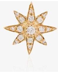 SHAY 18kt Yellow Gold Starburst Diamond Earring - Metallic