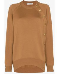 Givenchy Button Detail Wool Knit Sweater - Multicolor