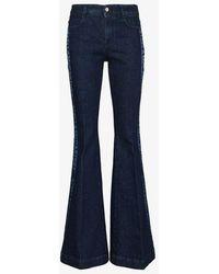 Stella McCartney Logo Stripe Flared Jeans - Blue