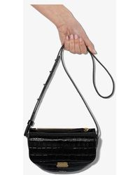 Wandler Black Anna Croc-embossed Belt Bag