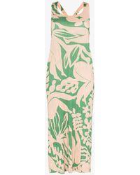 Pleats Please Issey Miyake - Pleats Please Issey Miyake Button Back Botanic Print Dress - Lyst