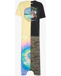 Conner Ives X Browns Focus Patchwork Print Maxi T-shirt Dress - Yellow