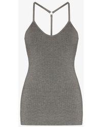 Sweaty Betty Namaste Seamless Bamboo Yoga Vest - Grey