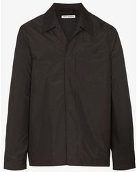 Our Legacy Tech Archive Check Shirt Jacket - Black