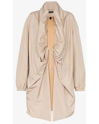 Y. Project Y/project Double Layer Two Tone Single-breasted Coat - Natural