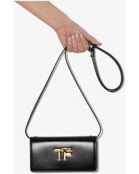Tom Ford Tf Leather Mini Bag - Black