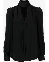 See By Chloé Pussy Bow Silk Blouse - Black