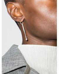 M. Cohen Tone Matchstick Pendant Earring - - Brass - Metallic