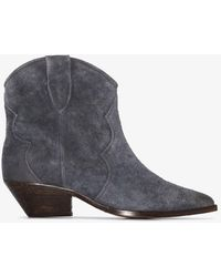 Isabel Marant Gray Dewina 40 Ankle Boots